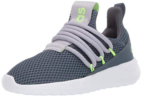 adidas Lite Racer Adapt 3.0 Running Shoe, Legacy Blue/Glory Grey/Signal Green, 2 US Unisex Little Kid