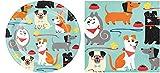 Dog Party Dessert Plates (16) and Beverage Napkins (16) Bundle