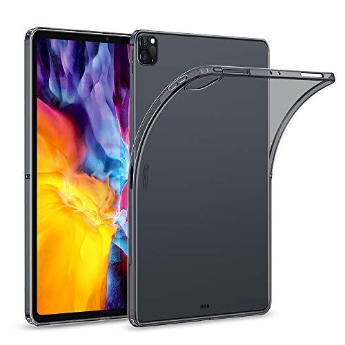 """ESR Hülle kompatibel mit iPad Pro 11"""" 2020, Klare TPU Rückseitenabdeckung, Unterstützt kabelloses Laden für Apple Pencil, Dünne Rebound Soft Hülle, Klar Schwarz"""