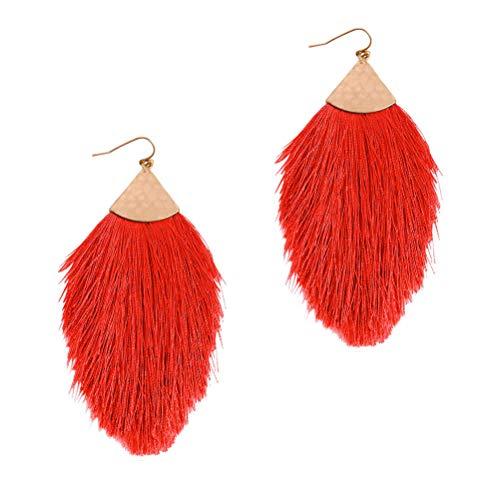 kinnter Quaste Ohrringe Baumeln Sie Ohrringe Fransen Ohrringe Böhmischen Ethnischen Mode Fächerform Baumeln Schmuck für Geschenk Mädchen Frauen Hochzeit