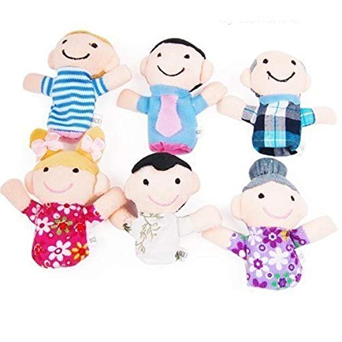 Oulensy 6 Pc Felpa Suave mi Dedo Familia Marionetas