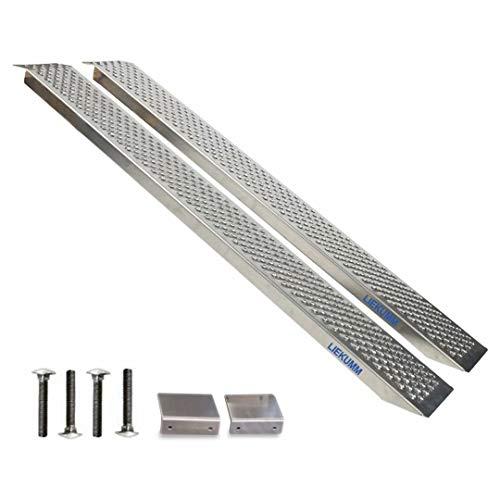 LIEKUMM 2 rampe in alluminio per moto rampe di carico rampe di carico rampe di carico carico max 600 kg, lunghezza 150 cm (AR20)