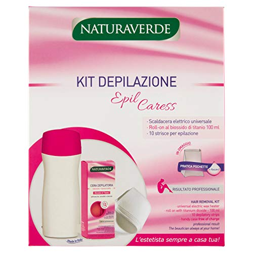 Naturaverde  Epil Caress - Kit depilazione, 1 confezione