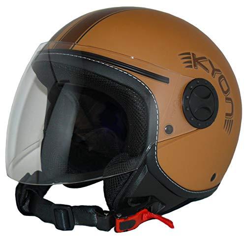 Protectwear H730-BR Casco Abierto con Facial con Visera Larga H730-BR-L, Hombre, Marrón, L
