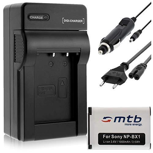 Batterie NP-BX1 + Chargeur Compatible avec Sony Cyber-Shot DSC-H400, HX50, HX80, HX50, HX80V, HX60, HX60V, HX90, HX90V, HX300.