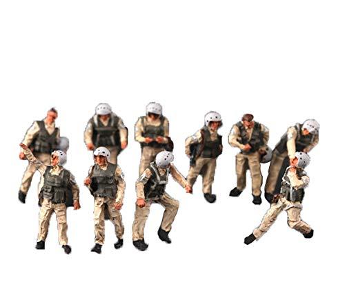 Accesorios Diorama 1/72 Figuras Modelo de Soldados Alemanes Diorama Paisaje en Miniatura Juego de Guerra Suministros de Paisaje EjéRcito Hombres Juguetes para NiñOs (Piloto Ruso)