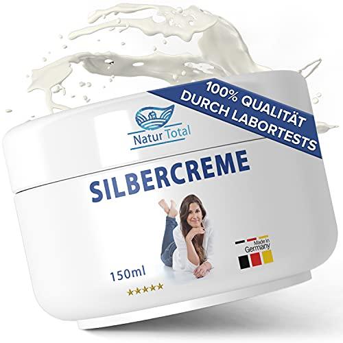 Silbercreme Kolloidales Silber 100PPM Silber Creme - 150 ml - Akne Creme Anti Pickel Creme Silberwasser 100 PPM eingearbeitet in DAC-Basiscreme