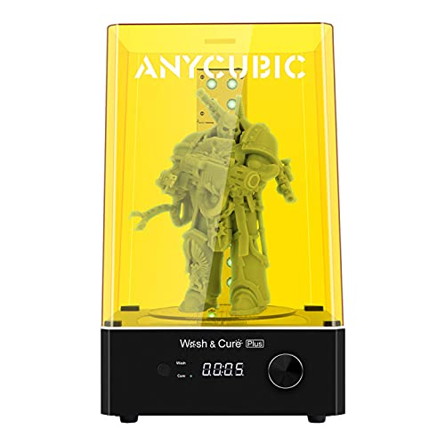 ANYCUBIC Wash & Cure Plus Maschine, 2-in-1 UV Waschen und Aushärten Maschine für LCD/DLP/SLA 3D Drucker Modelle mit 360° Drehbarem Aushärtetisch, Max Waschgröße 192 * 120 * 290 mm