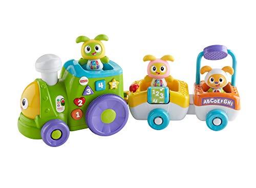 Fisher Price-The Robot Train Elektronisches Spielzeug für die Entwicklung von Kindern ab 6 Monaten FXH95,Italienisch Sprache