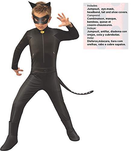 Ladybug - Disfraz de Cat Noir para niños, talla 7-8 años (RubieS ...
