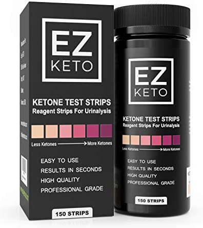 Easy Keto Ketone Testing Strips for Urinalysis with Free App and EZ Keto Start Guide 150 Test product image