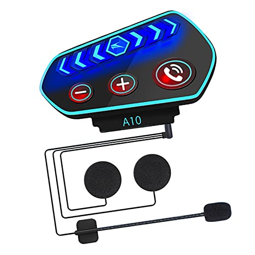 MERIGLARE Casco de Motocicleta Auriculares Auriculares Bluetooth inalámbricos Impermeables 2600mA Manos Libres