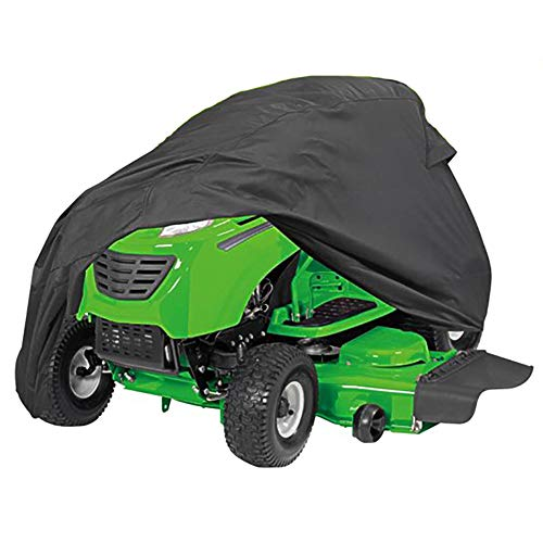 PrimeShield Lawn Riding Mower Cover, Heavy Duty Waterproof Windproof Tractor Cover, Decks up to 54 Inches, Black