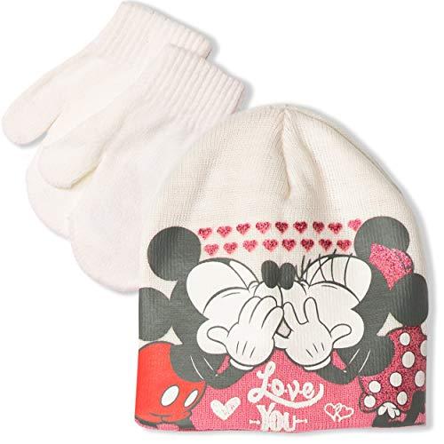 Disney Minnie Mouse Ensemble bonnet et gants pour bébé fille 0-2 ans - - 50 cm (aprox 12-24 mois)