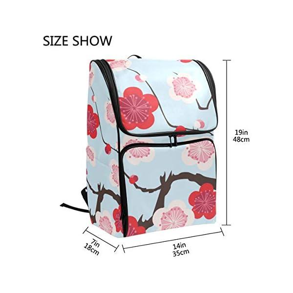 Mokale Sakura Japanese New Pattern Seamless Vector,Mochila Bolsa de Viaje Senderismo Colegio Estudiante Escuela de Viaje…