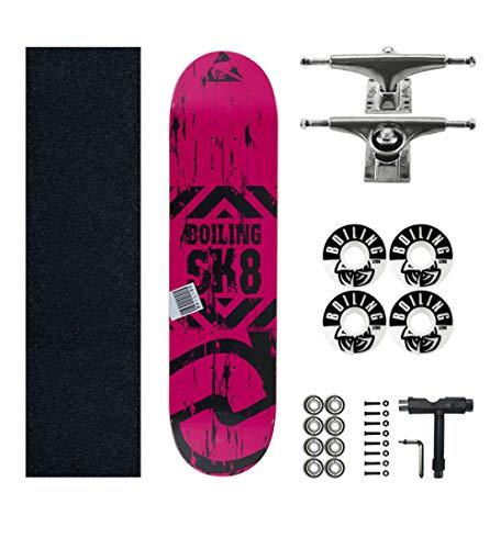 SHENHAI Skateboard Maple Skateboard Anfänger und Maple Tree Skateboard 1979 (Magenta) _Average Code