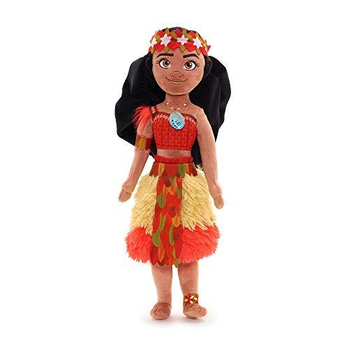 Disney Moana - Muñeca de Peluche Suave - 44 cm, Hecha con Tela Suave al Tacto con rasgos faciales Bordados, un Collar 3D Heart of Te Fiti y un Atuendo Ceremonial - Apto para Mayores de 0 años Moana