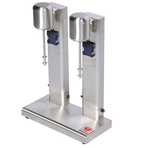 Beeketal BMS-2 Profi Milchshaker Doppel Mixer mit 2 x 750 ml XL Bechern, 2 Stufen (10.000 oder 15.000 U/Min), Gastro Standmixer ideal für cremige Milkshakes, Eiweißshakes, Cocktails oder Smoothies