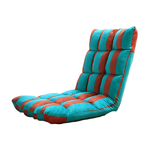 Axdwfd Zero Zwaartekrachtstoel, opklapbare ligstoel, bed rugleuning opvouwen liggende enkele stoel Lazy bank uitgang Tatami Legless Platform bed Computer stoel 106x50x12cm