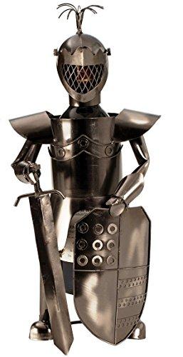 Ritter Flaschenhalter aus Metall Flaschenständer Mittelalter Weinhalter