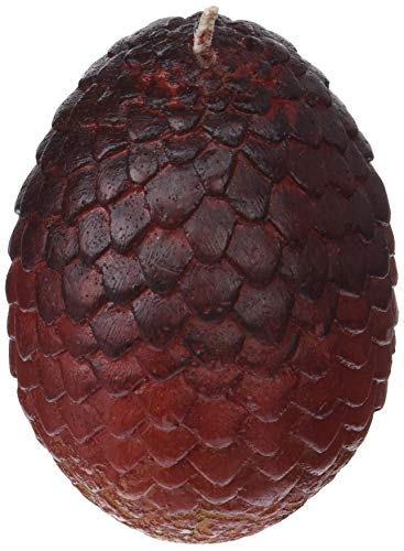 Game of Thrones: Sculpted Dragon Egg Candle (Red)