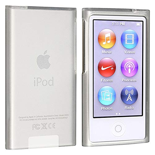 Insten Soft TPU Rubber Skin Case Cover Compatible with iPod Nano 7th Generation 7 Gen, Frost Clear White