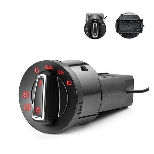 yaoqijie 1 unid 13pin Faro cabeza de la lámpara Interruptor de la lámpara de la luz de la niebla Interruptor de control de la luz Fit para Auto Car Fit para Volkswagen Fit for Golf Mk4 Fit para Passat