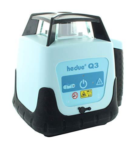 hedue R120 Rotationslaser Q3-Baulaser mit Zwei Laserklassen (im systainer mit Laser-Empfänger, Fernbedienung und Ladegerät), Rot