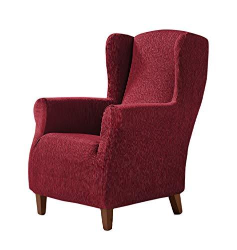 Zebra Textil Elastische Husse für Ohrensessel Beta Größe 1 Sitzer (Standard), Farbe Rot (Mehrere Farben verfügbar)