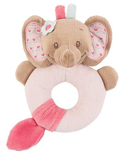 Nattou 655149 Charlotte & Rose Hochet anneau, Rose l'éléphant,