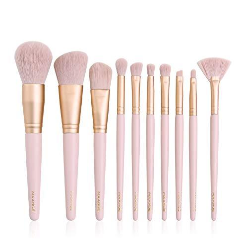 LSWL 10/11 / 15pcs Maquillage Pinceaux teint poudre fard à paupières Make Up Pinceaux cosmétiques Brosses doux cheveux synthétiques (Color : 10pcs pink)