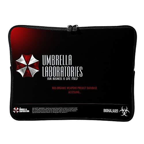 Normal Corporation of Umbrella Laptoptaschen Personalisiert Wasserdicht - Horror beängstigend Tablet Aktentasche Geeignet für Geschäftsreise white2 15 Zoll