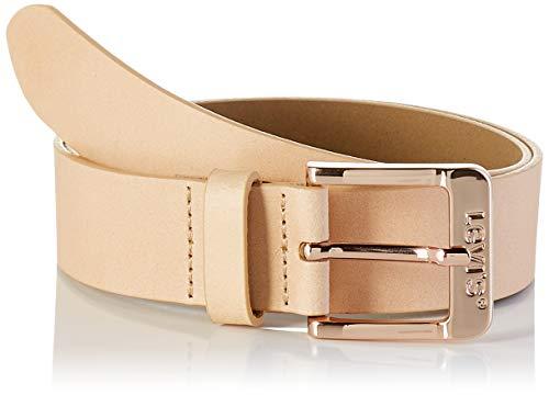 Levi's LEVIS FOOTWEAR AND ACCESSORIES Free Belt Cinturón, Beige (Écru 21), 80 para Mujer