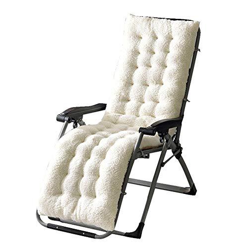 Cojín para tumbona de jardín, cojín grueso para tumbona, doble antideslizante, cojín para silla, para exteriores, para interior y exterior