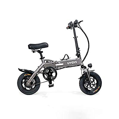 zytyeu Folding Electric Bicycle Ultralight Lithium Battery Men and Women Mini Small Mobility Scooter Adult Driving Battery Car (Color : Gray, Size : 48V250W)