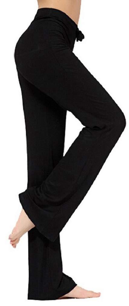 Hippolo Pantalon décontracté droit pour femme avec cordon de serrage pour le yoga et la course à pied