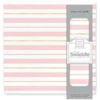 SwaddleDesigns Cotton Muslin Swaddle Blanket (Pastel Pink)