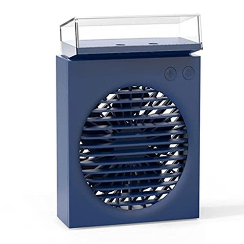 ZBQLKM Ventilador de aire acondicionado portátil, ventilador de escritorio USB con 4 velocidades Viento fuerte, diseño independiente del tanque de agua visible, desmontable, fácil de limpiar, fácil de