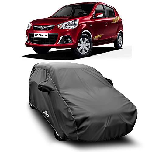XG Brand Car Body Cover Special Design for Maruti Suzuki New Alto K10 (Gray with Mirror Pocket)