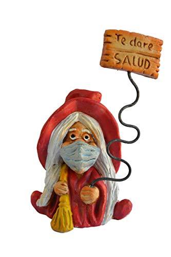 Figura decorativa Bruja Suerte Mascarilla Roja 100%...