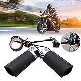 Almohadilla de calefacción para manillar de motocicleta, interruptor de almohadilla calentada de 12 V con cinta adhesiva resistente al calor y cubierta para vehículos eléctricos remolques de mano