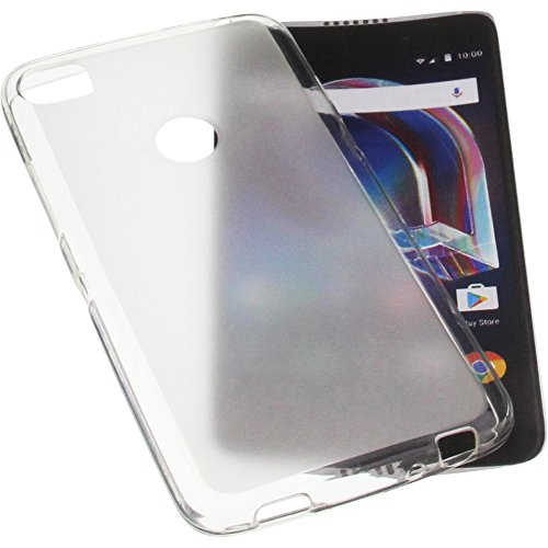 foto-kontor Tasche für Alcatel Idol 5S 6060X Gummi TPU Schutz Handytasche transparent weiß