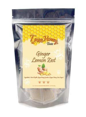 True Honey Teas, Ginger Lemon Zest, Craft tea blended with real honey granules, 24 count