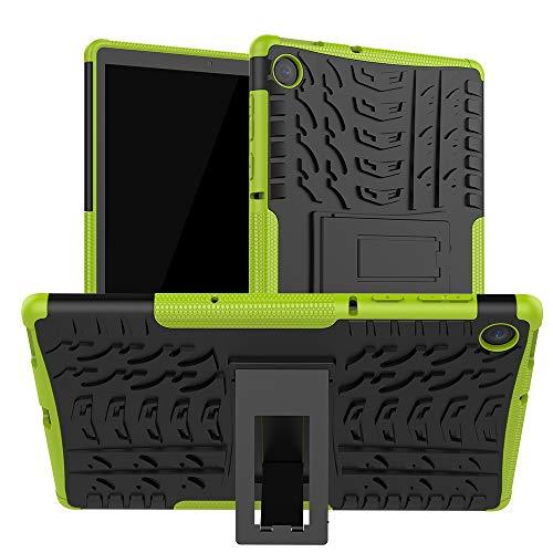 XITODA Funda Lenovo Tab M10 FHD Plus,TPU Silicone + PC Back con Kickstand Protección Carcasa para Lenovo Tab M10 FHD Plus 10,3 Pulgadas TB-X606F/X606X Tablet,Verde