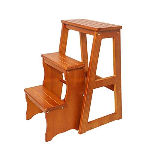 Escalera plegable de 3 niveles, escalones de madera para adultos plegables para camas altas para adultos estante de pie