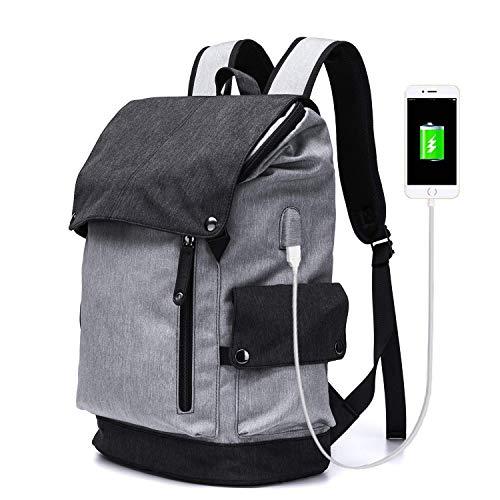 Sac à dos étudiant en plein air imperméable et respirant sac à dos, ultra léger Oxford filature randonnée alpinisme sac à dos ordinateur portable de grande capacité avec port USB de chargement sac à d