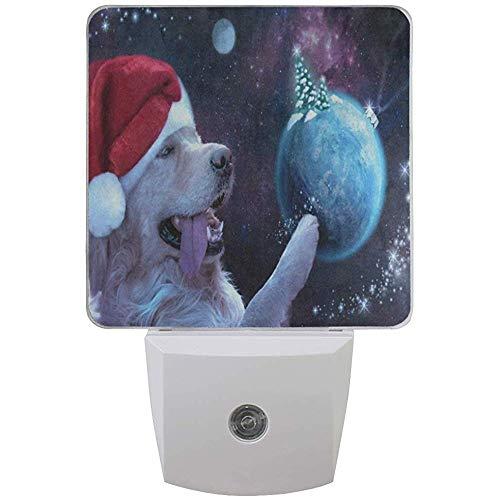 Katrine Store Luz de Noche Happy Dog Árbol de Navidad Planet Space...
