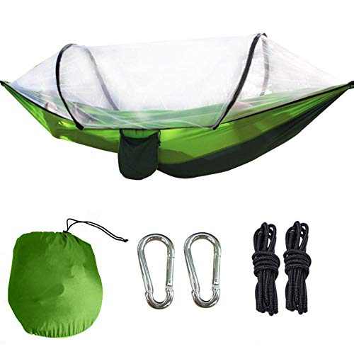 Biuzi Paal Hangmat, 1 Pc Parachute Stof Draagbare Muggen Netto Hangmat Tent Outdoor Camping Dubbele Opknoping Bed Swing Chair