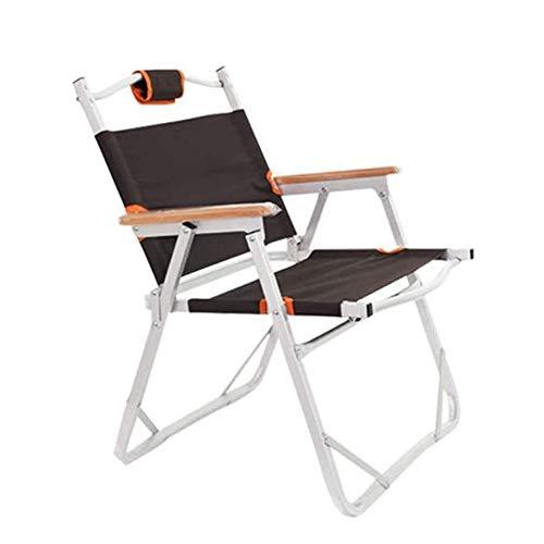 FUJGYLGL Silla Plegable portátil del césped, Silla de Camping con apoyabrazos y Almacenamiento portátil de Bolsillo de la manija de Aluminio de diseño, Ideal for Acampar, Senderismo, Pesca