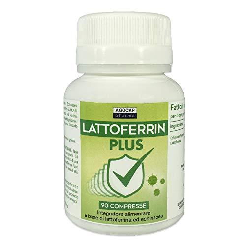 Lattofferina pura, 90 compresse | con Echinacea | Rinforza il sistema immunitario | Lattoferrina...